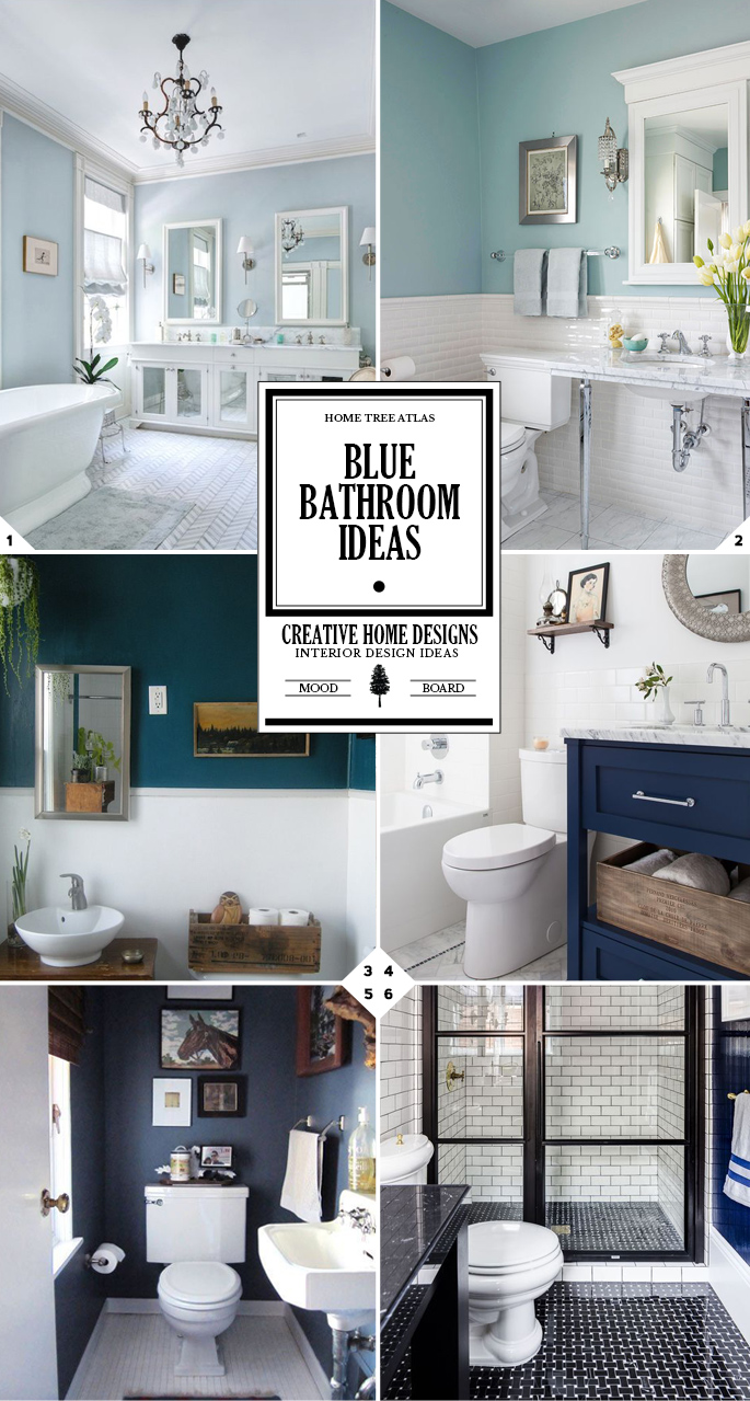 Makeover Guide: Blue Bathroom Ideas