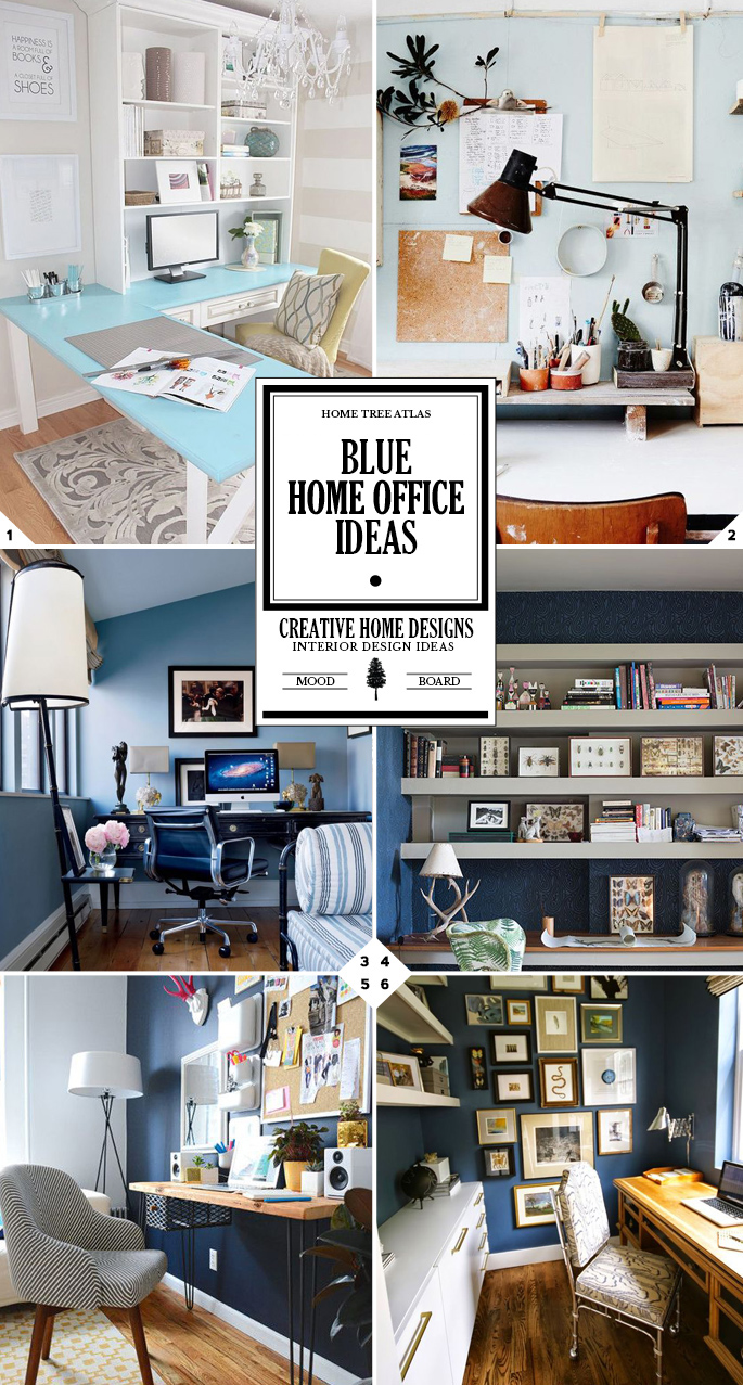 Style Guide Blue Home Office Ideas And Designs Home Tree Atlas