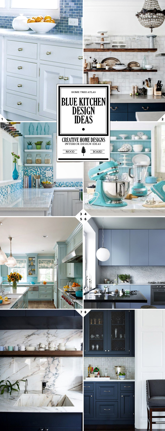 Style Guide: Blue Kitchen Design Ideas
