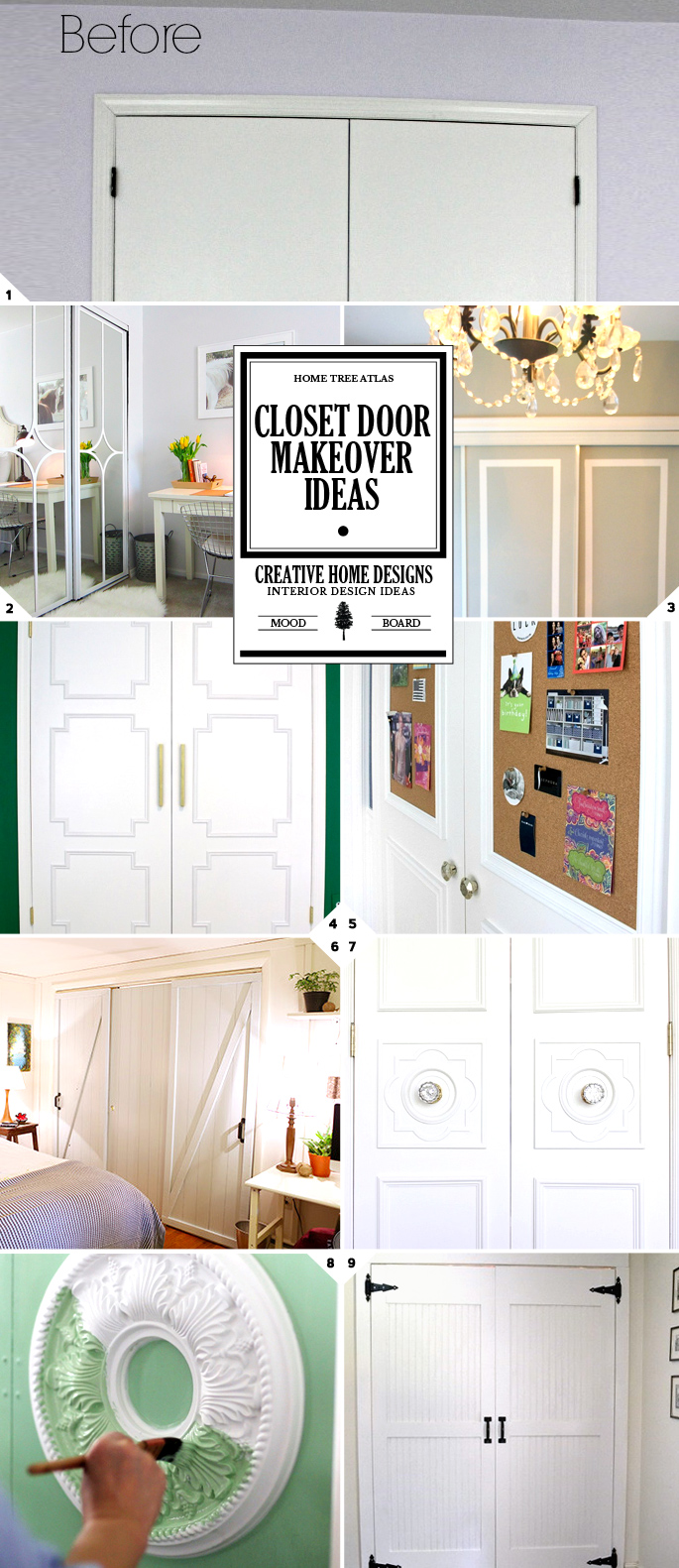 closet doors. DIY Challenge: Give Your Closet Doors A Makeover \u2013 Ideas And Design Tips M