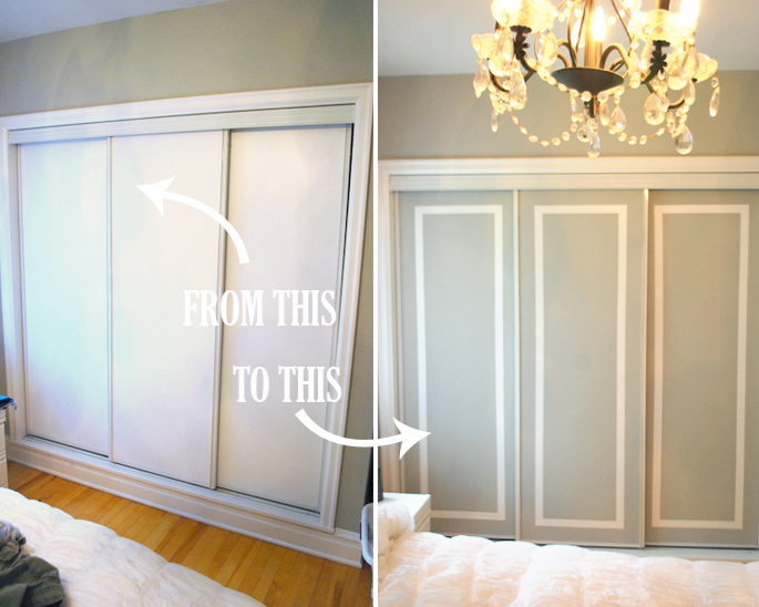 diy challenge give your closet doors a makeover ideas. Black Bedroom Furniture Sets. Home Design Ideas