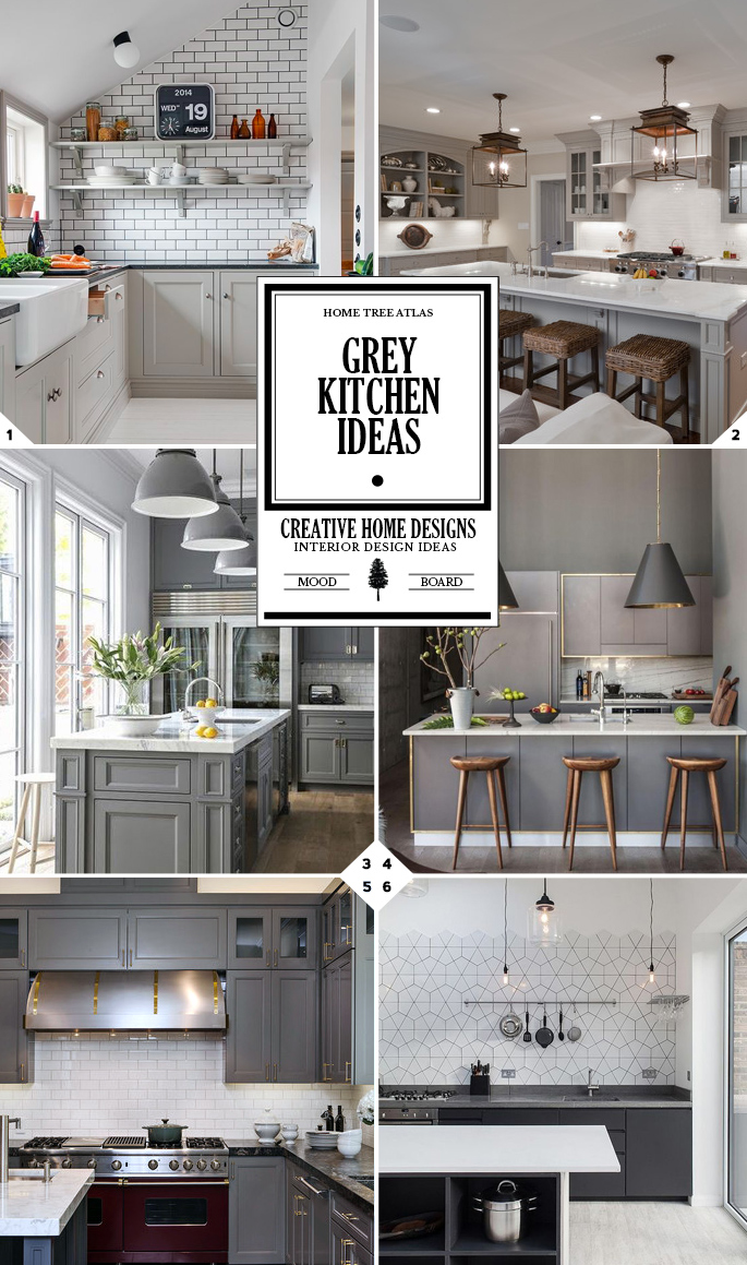 Color Guide Grey Kitchen Ideas Home Tree Atlas - Kitchen color schemes with grey cabinets
