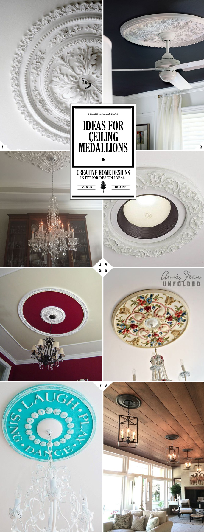 Design Ideas for Decorative Ceiling Medallions