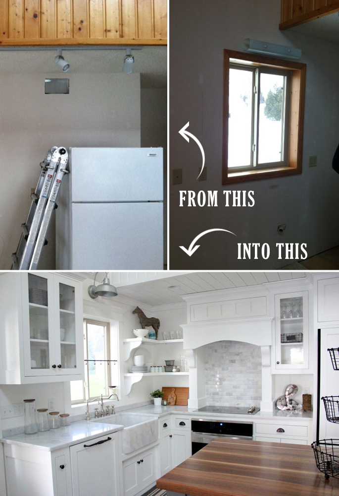 Before and After the kitchen makeover