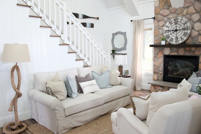 PASSPORT: Before and After Minnesota Farmhouse Cabin Renovation and Makeover Tour - Farmhouse living room style