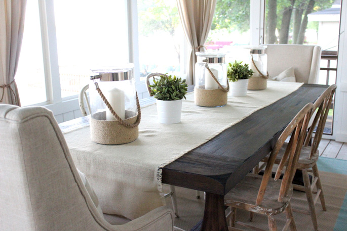 PASSPORT: Before and After Minnesota Farmhouse Cabin Renovation and Makeover Tour - Farmhouse dining table