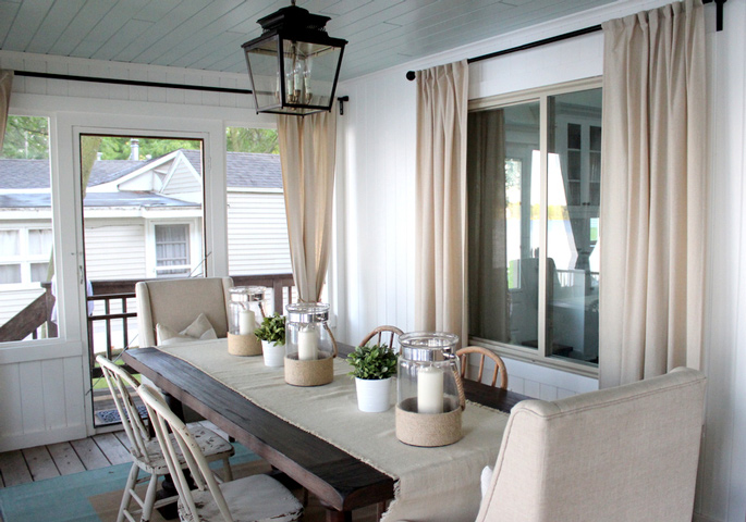 PASSPORT: Before and After Minnesota Farmhouse Cabin Renovation and Makeover Tour - Closed off porch dining room