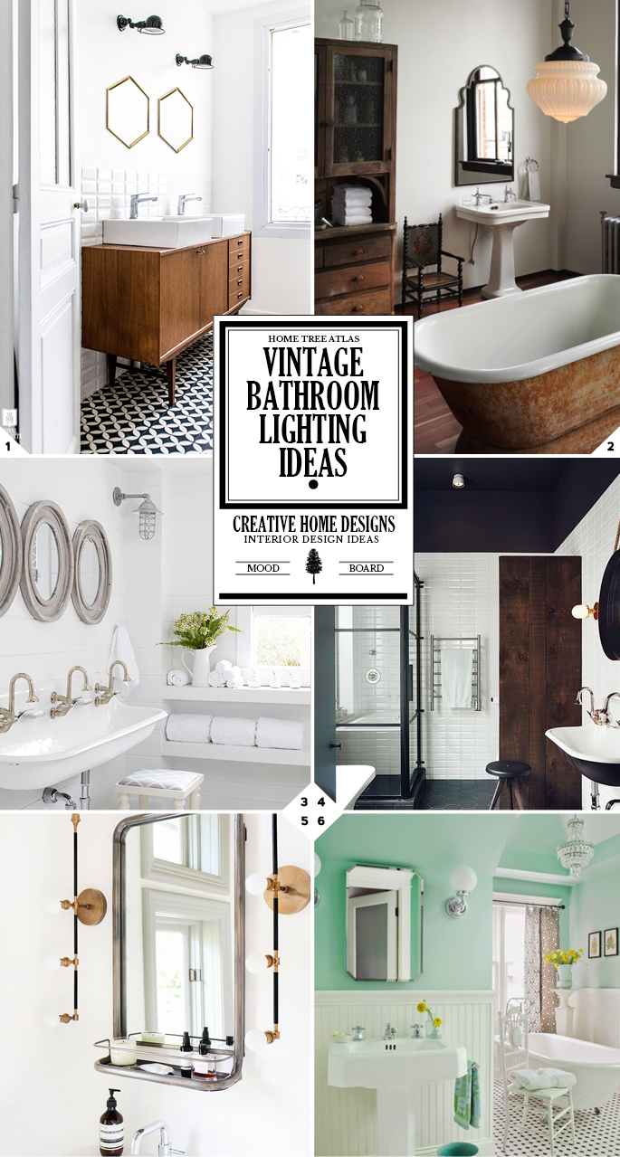 Style guide vintage bathroom lighting fixtures and ideas for Vintage bathroom lighting fixtures