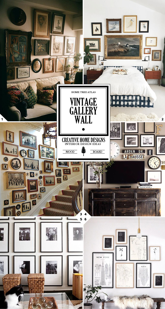 Design Tips on How To Create a Vintage Gallery Wall