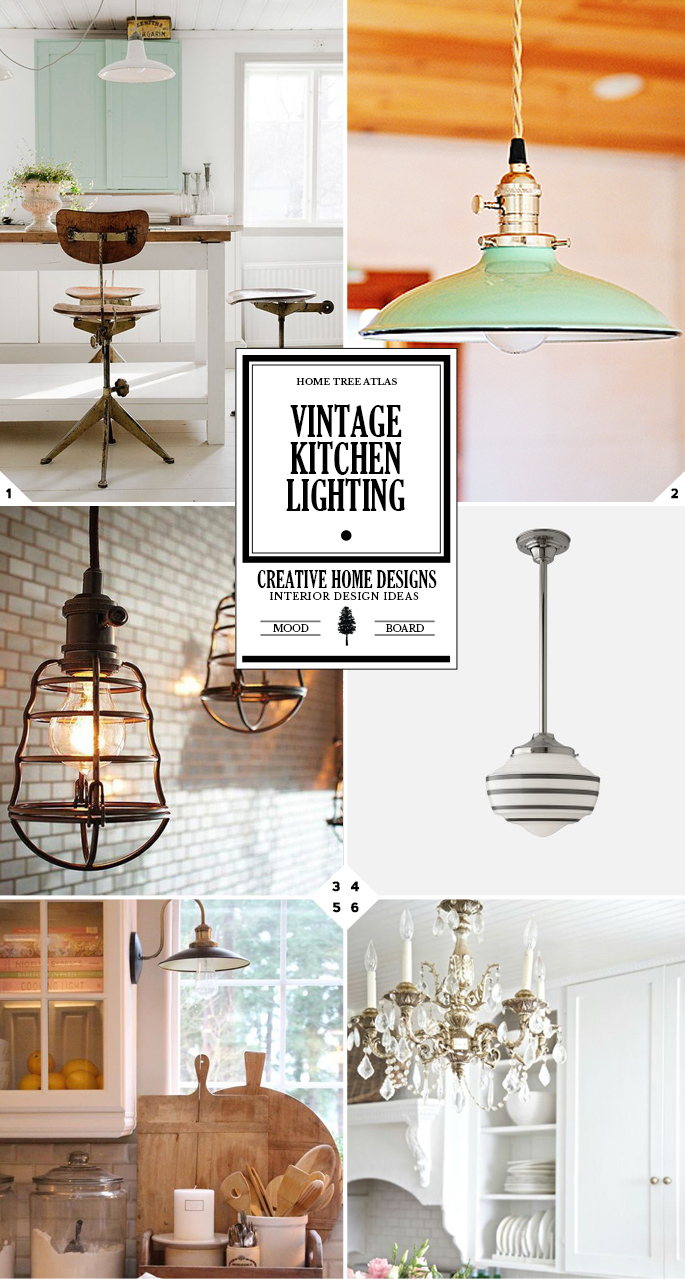 Vintage Kitchen Lighting Ideas: From School House Lighting To Chandeliers