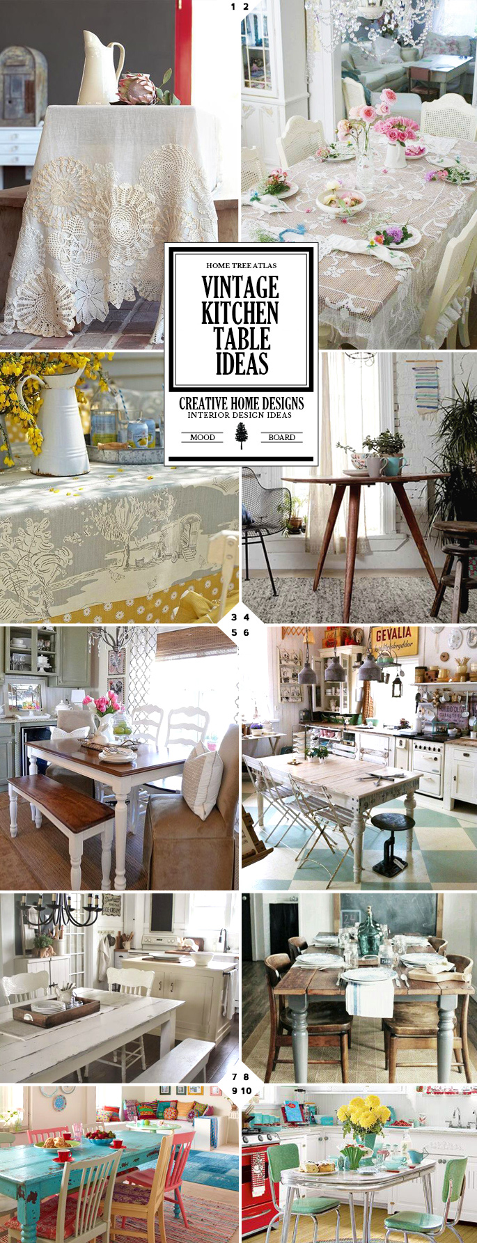 Style Guide: 10 Vintage Kitchen Table Ideas and Designs