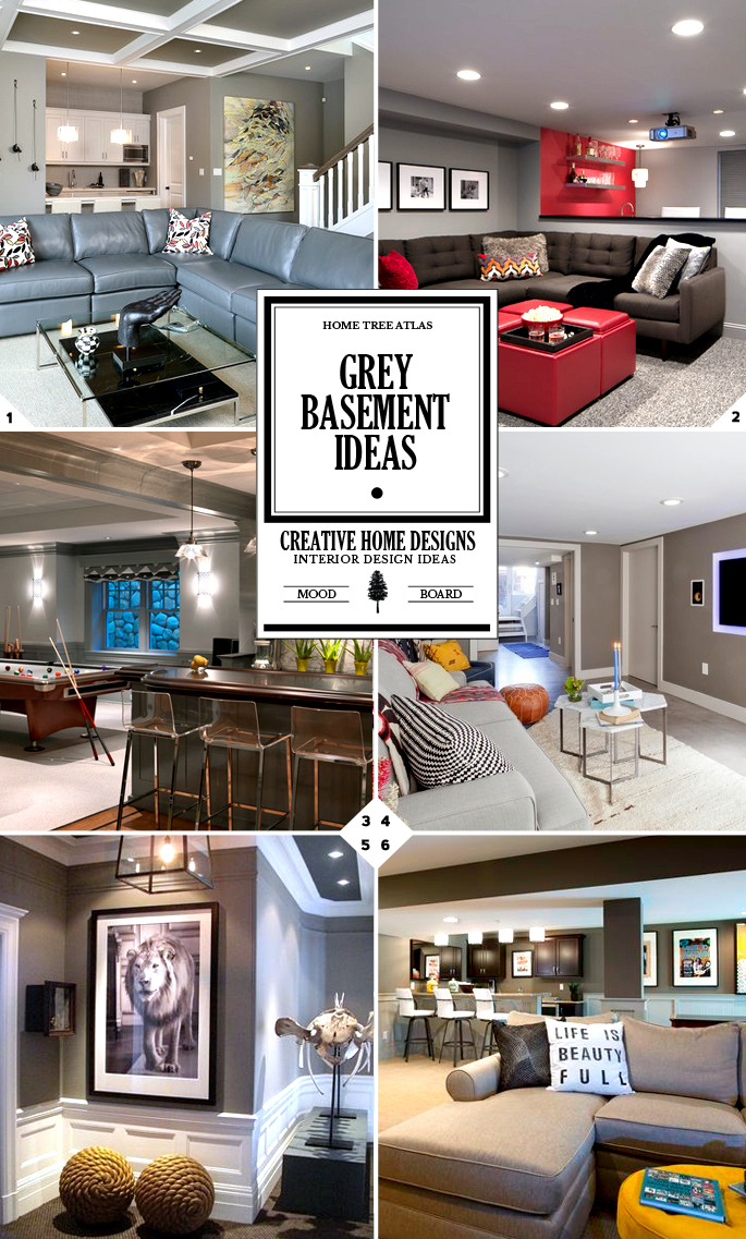 Grey Basement Ideas: Color Style Guide