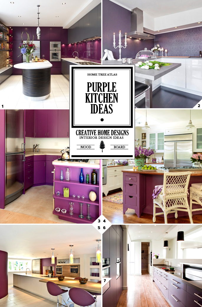 color design guide purple kitchen decor ideas home tree. Black Bedroom Furniture Sets. Home Design Ideas