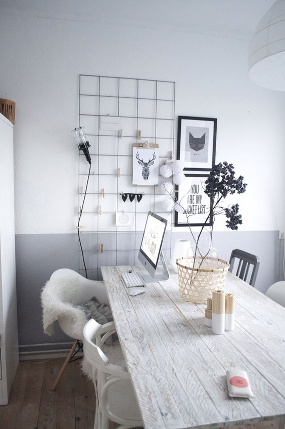 Grey home office decor ideas