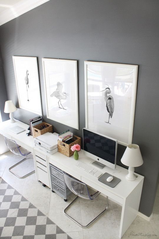 Work in Style: Grey Home Office Ideas | Home Tree Atlas
