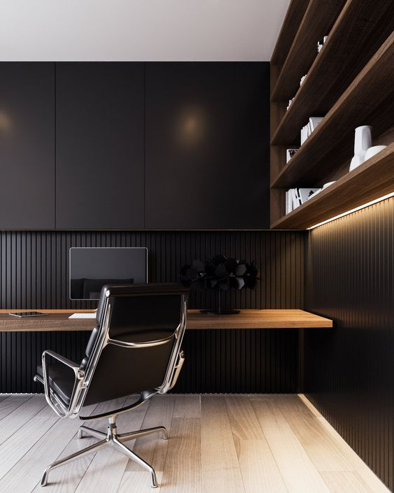 Black home office ideas