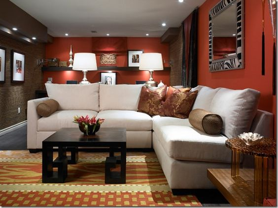 Red basement ideas