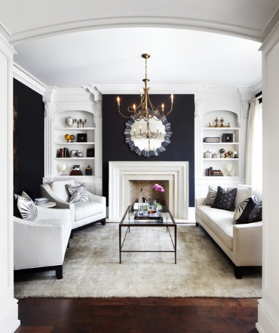 Black and white living room decor ideas