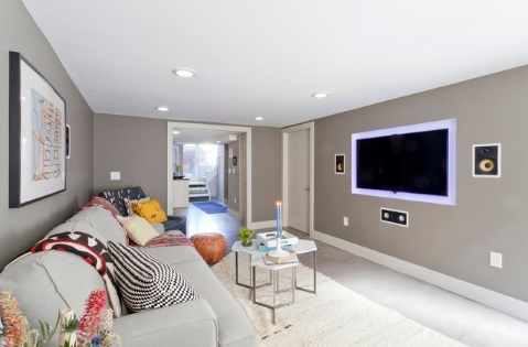 Grey basement ideas