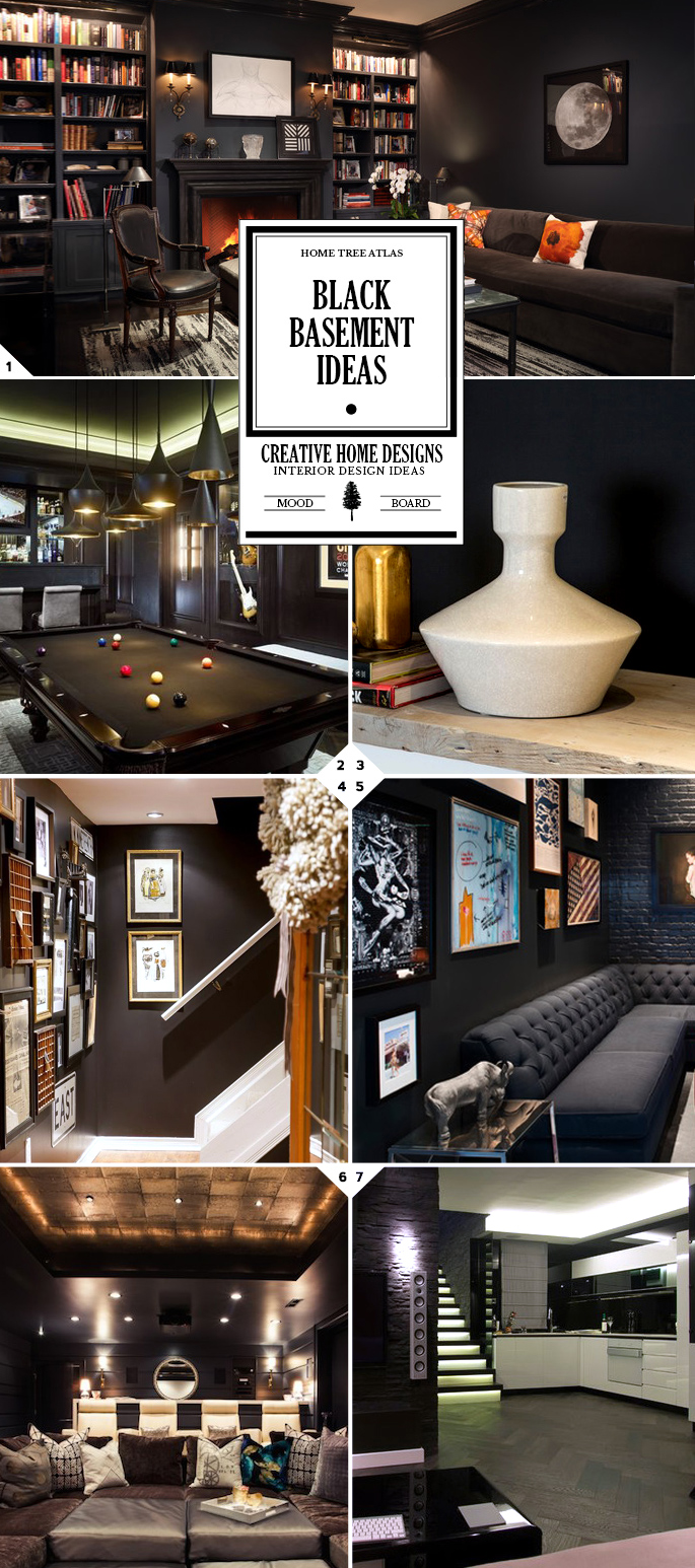 Cozy Living: Black Basement Ideas