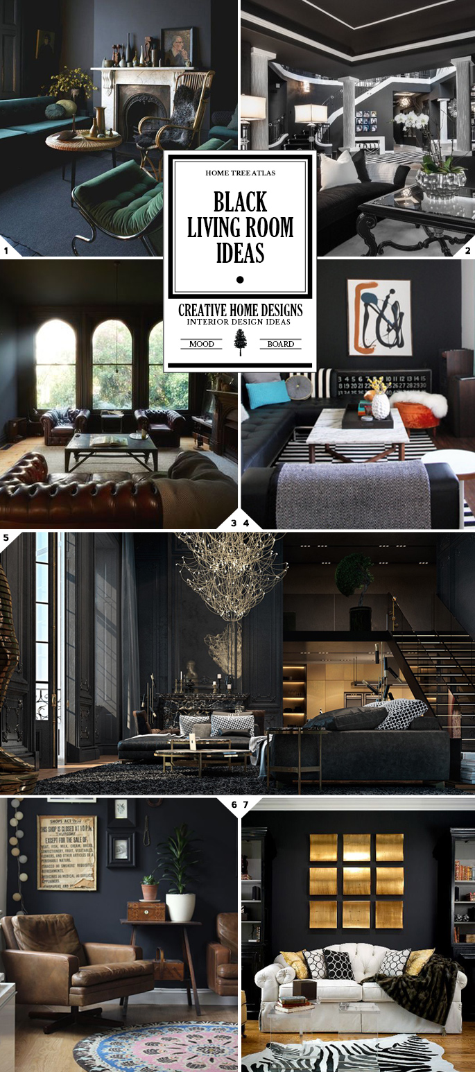 Color Style: Black Living Room Ideas and Designs