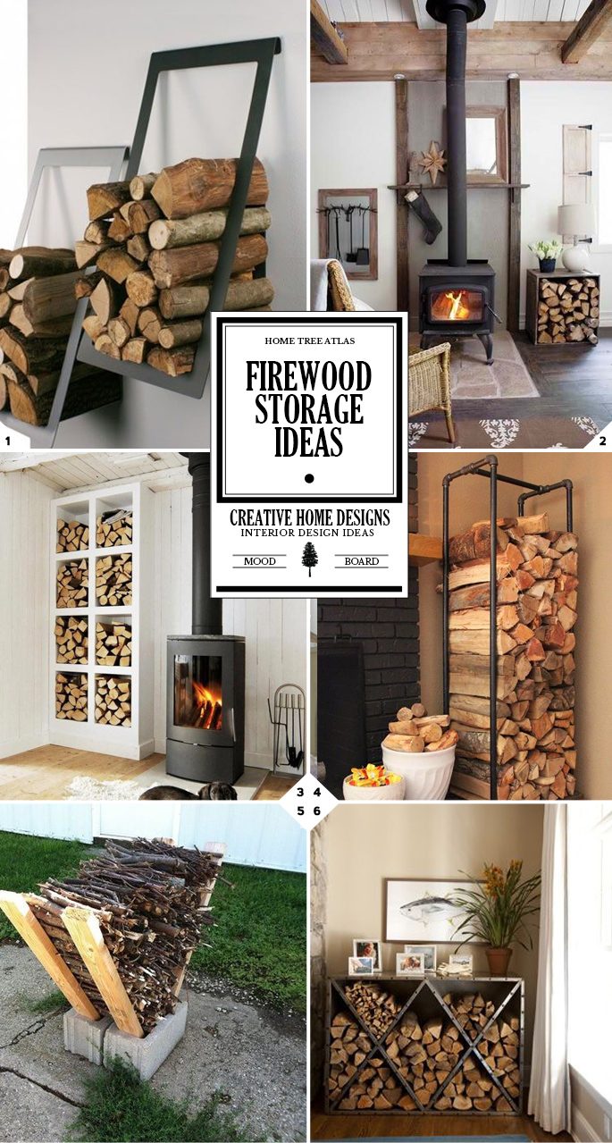 A Crackling Fire: Indoor Firewood Storage Ideas