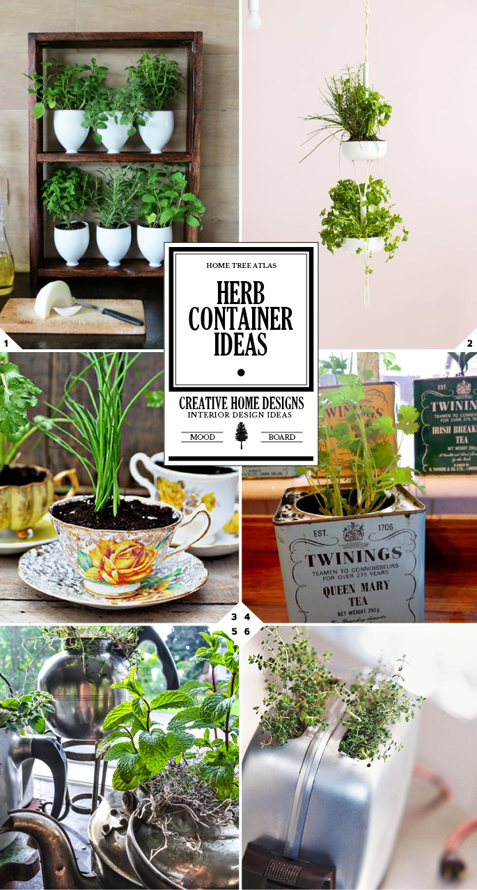 Inventive and Low Budget DIY Herb Container Ideas