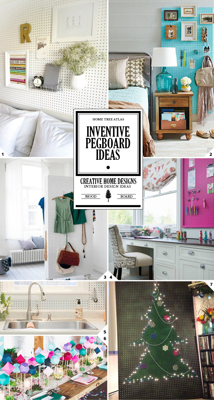 The Pegboard House: Inventive Ideas on Using Pegboards Around the House