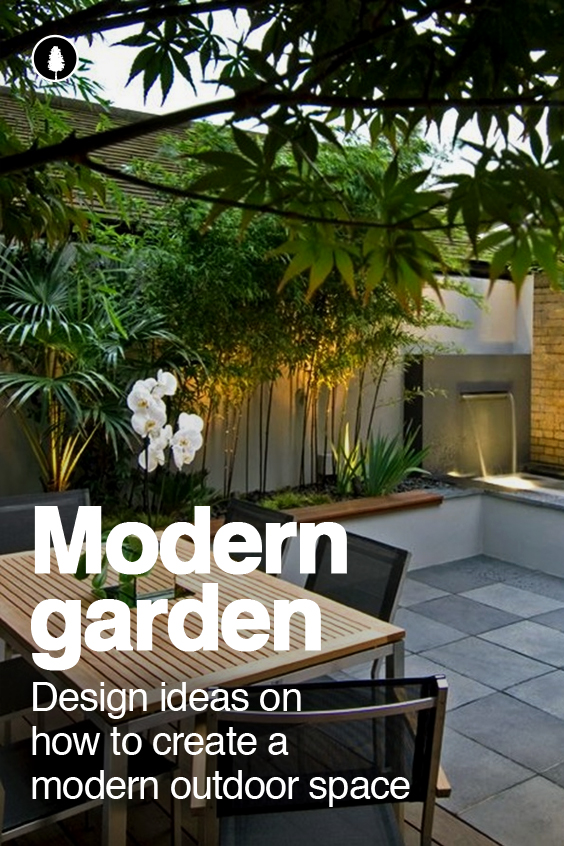 Ideas on how to create a modern garden design