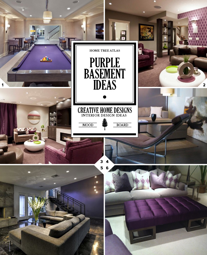 Color Style Guide: Purple Basement Ideas