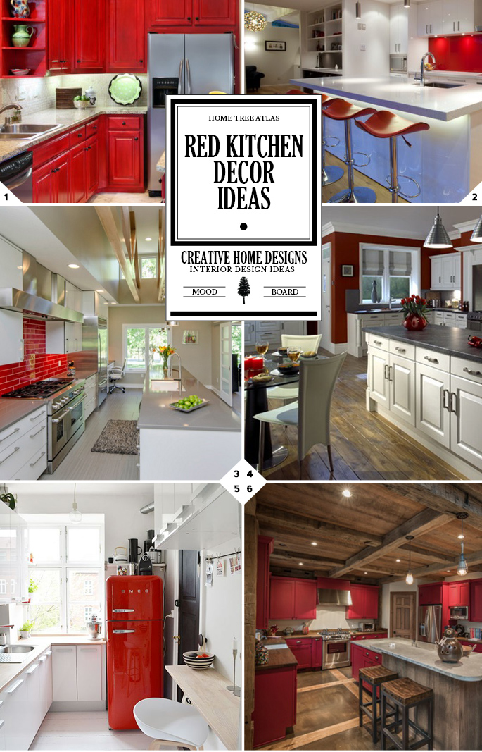 Kitchen color ideas red for Red kitchen decor