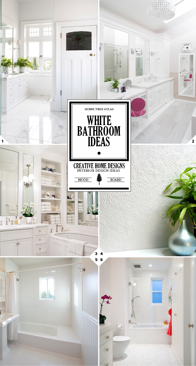 Color Style Guide: All White Bathroom Ideas