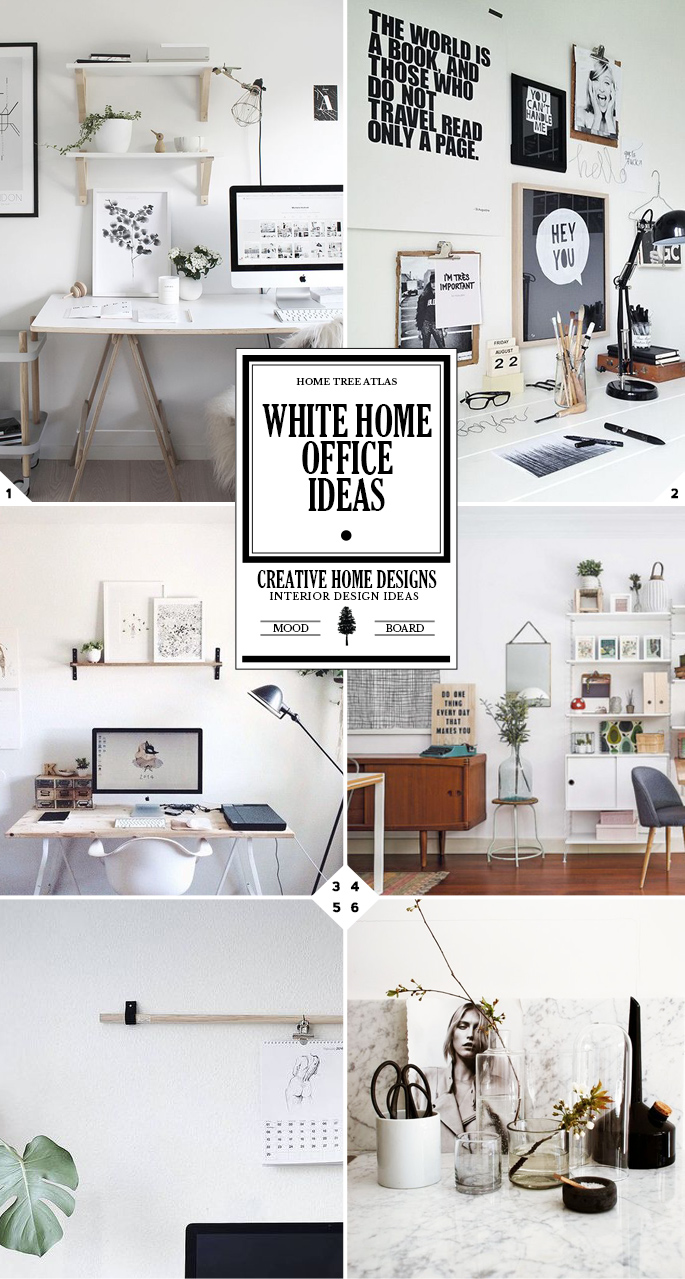 Decor and Design: White Home Office Ideas
