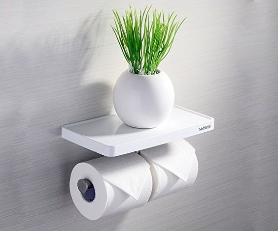 Modern Double Toilet Paper Holder