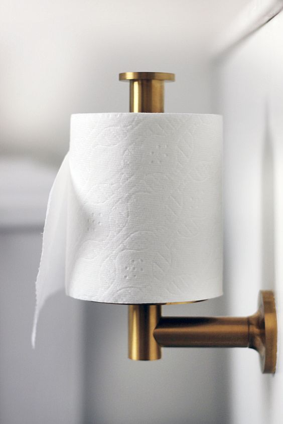 Gold toilet paper holder