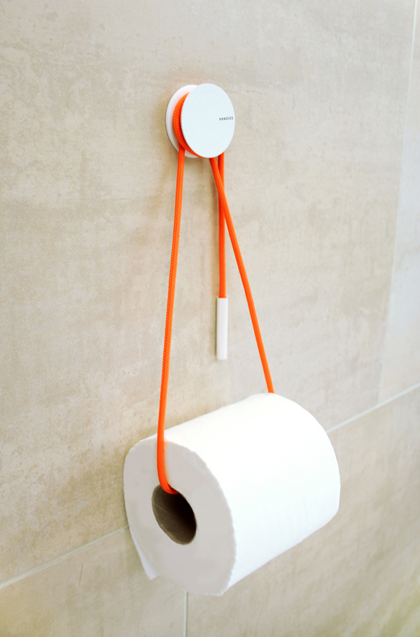 Hanging modern toilet paper holder