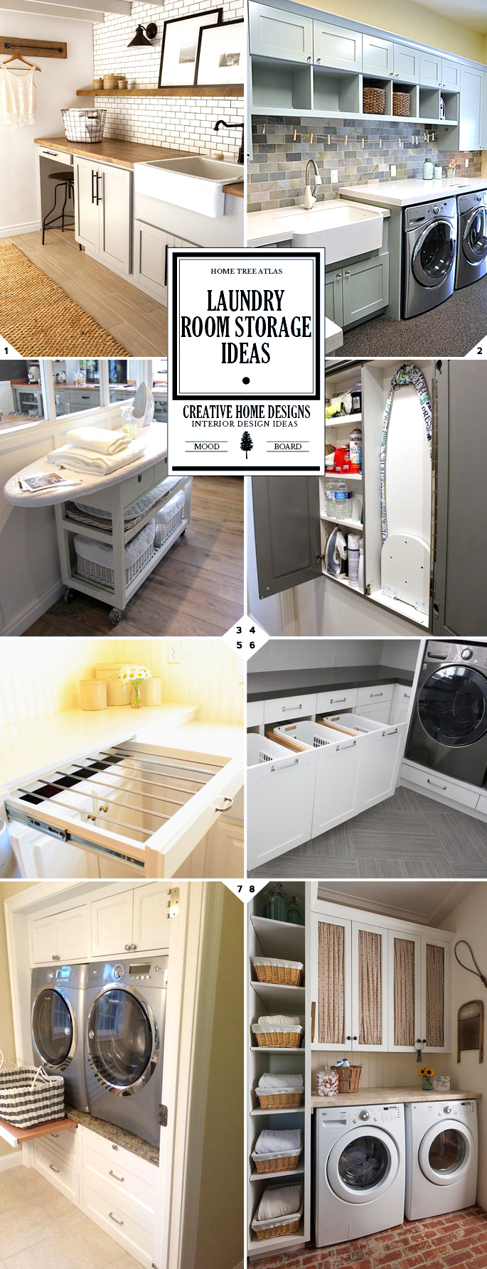 Laundry Room Storage Ideas and Organization Solutions