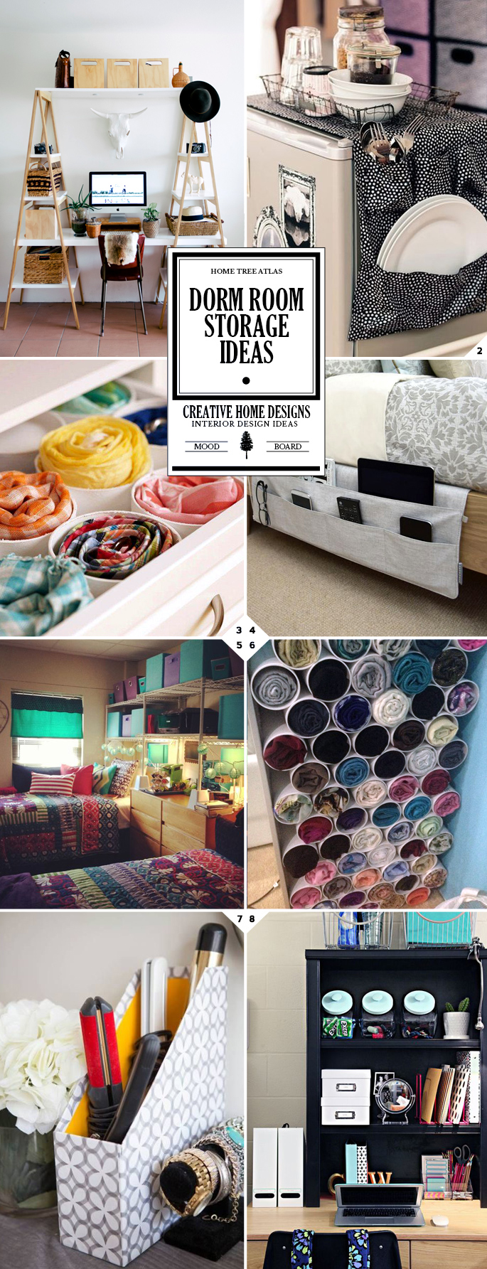 Dorm room storage ideas and space saving organizing tips