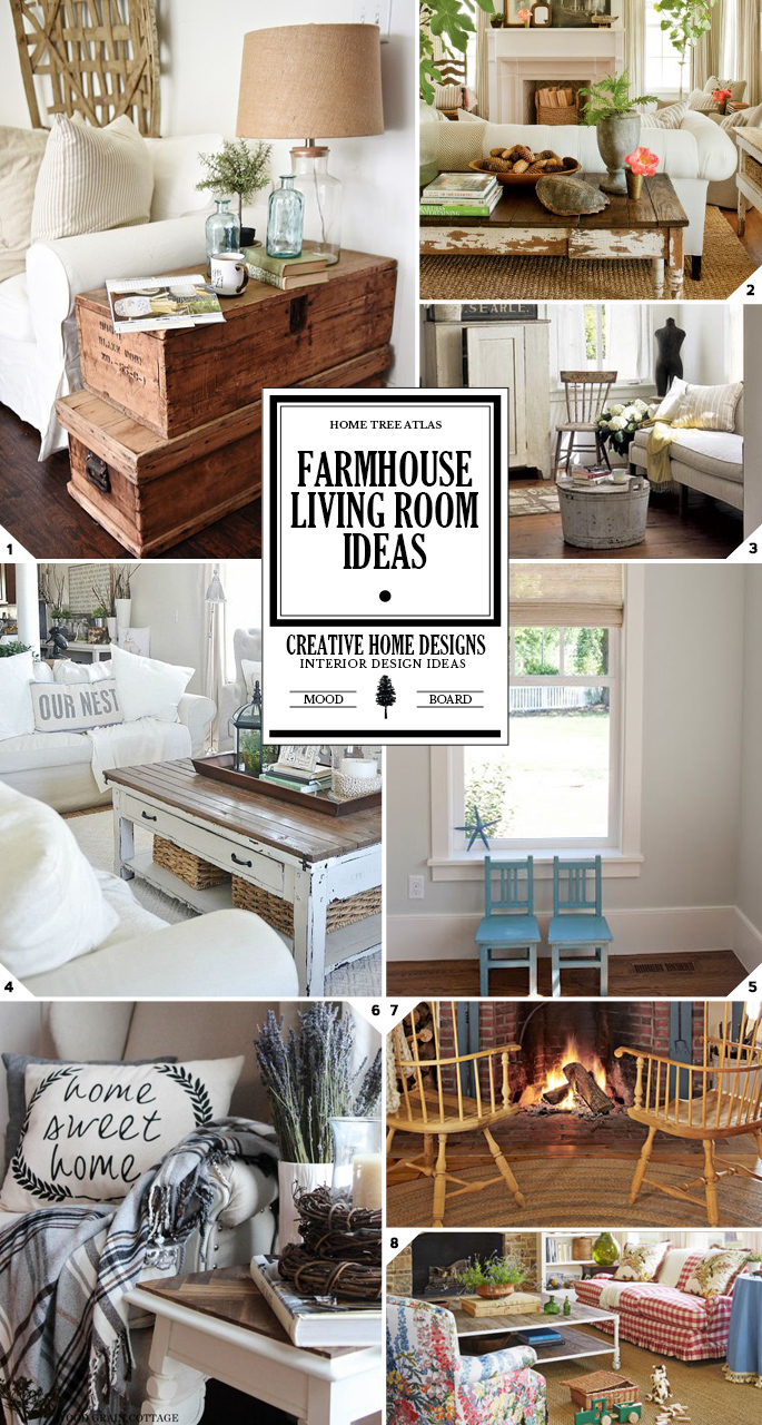 Farmhouse living room ideas how to create the look for Farmhouse living