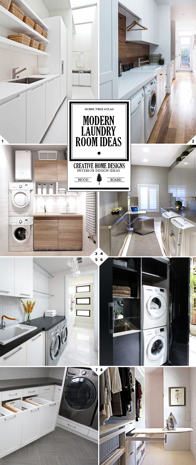 Modern laundry room decor, design, and layout ideas