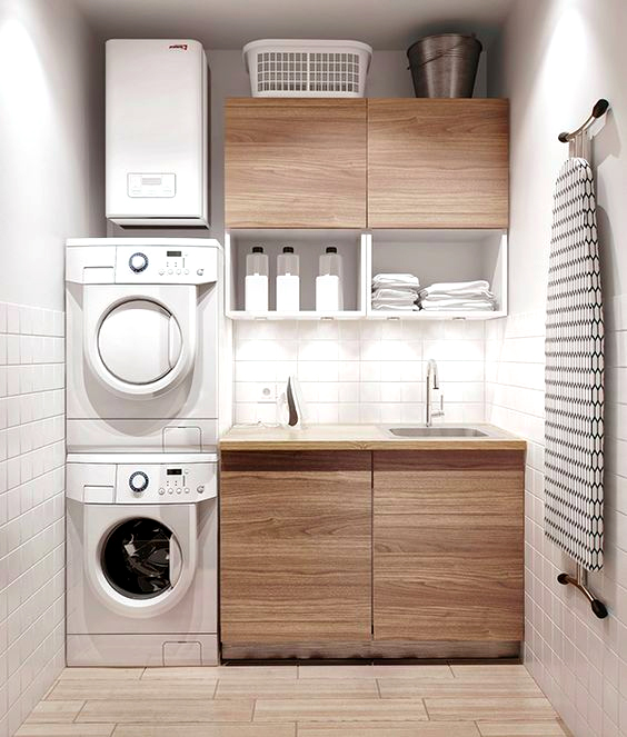 Style guide modern laundry room ideas and storage tips home tree atlas - Laundry room designs small spaces set ...