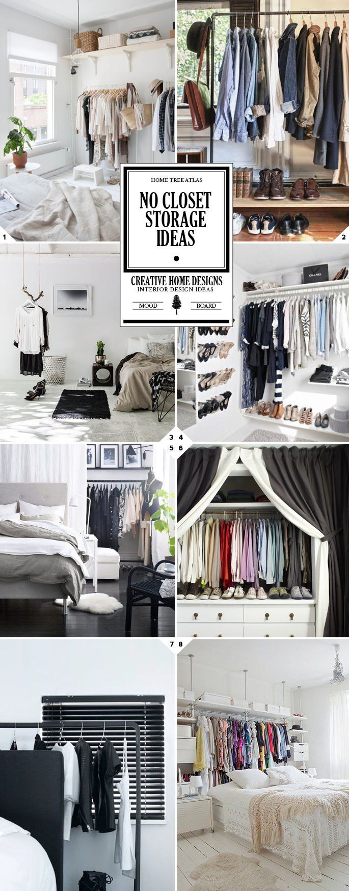 Getting Creative: No Closet Solutions and Storage Ideas | Home Tree ...