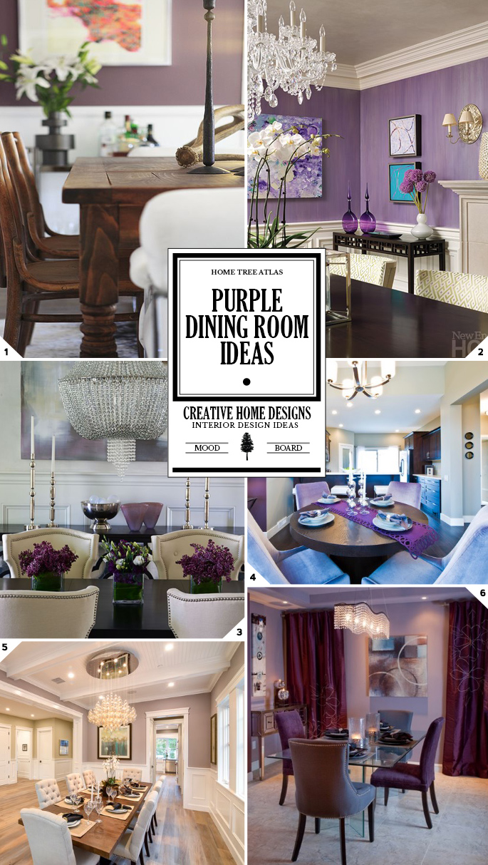 purple dining room decor ideas and designs
