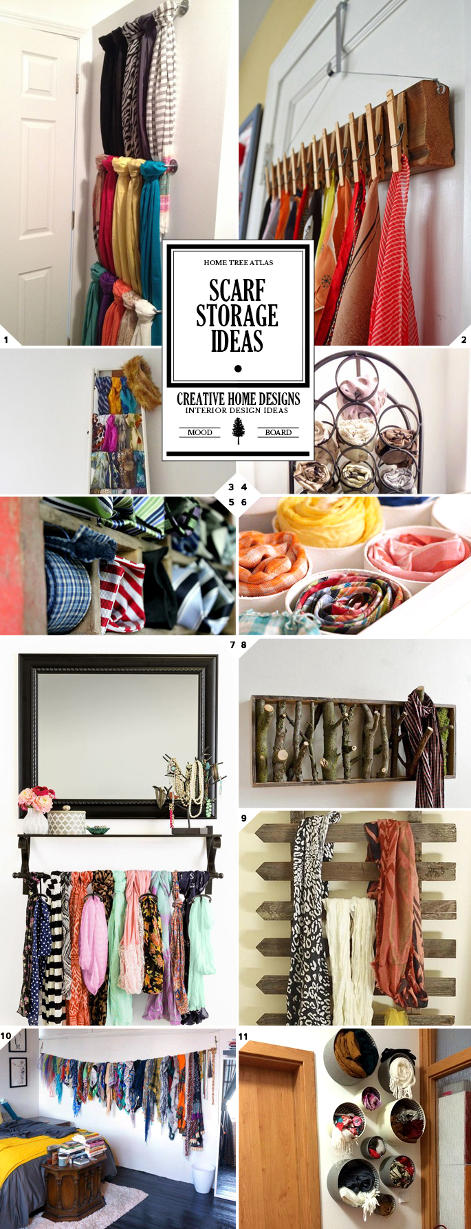 Inventive and Creative Scarf Storage Ideas and Organization Tips