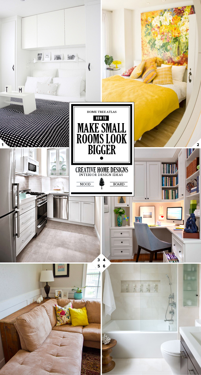 How to make small rooms look bigger, decor ideas and tips