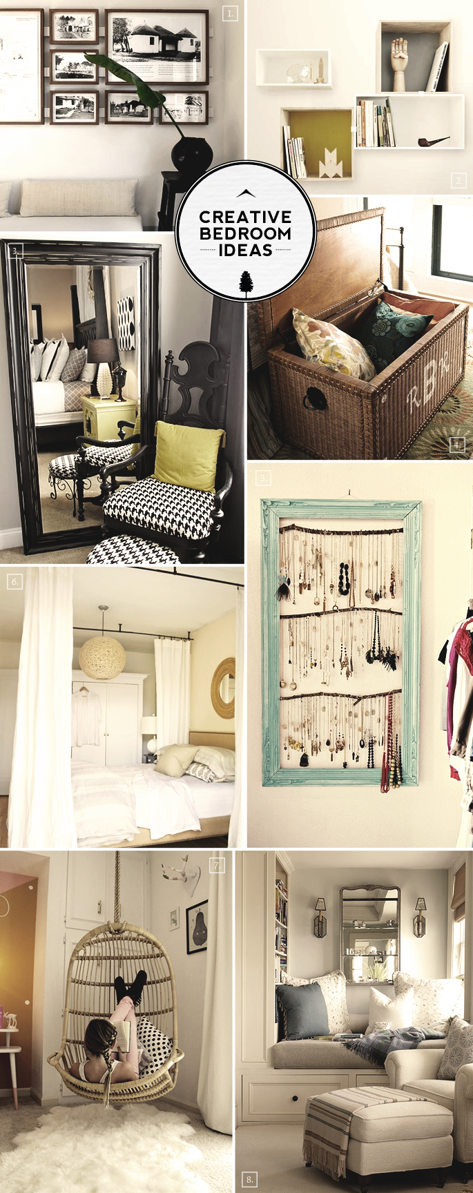 Creative Room Design Ideas: Creative Bedroom Ideas: From Reading Nooks To Hanging