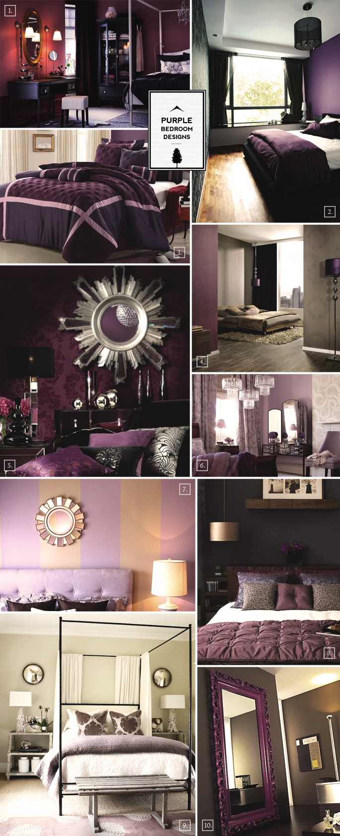 purple bedroom designs inspiration mood board home tree atlas rh hometreeatlas com