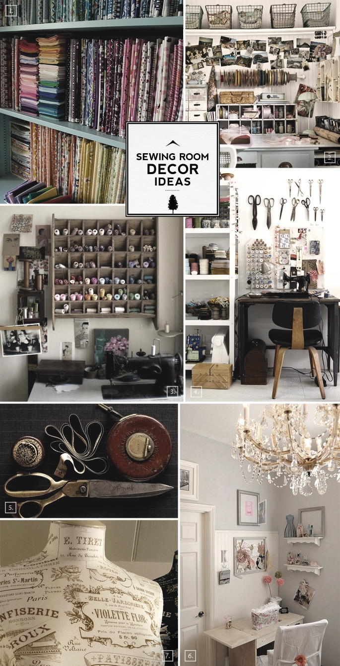 Sewing Room Designs: Work And Design: Sewing Room Decor Ideas