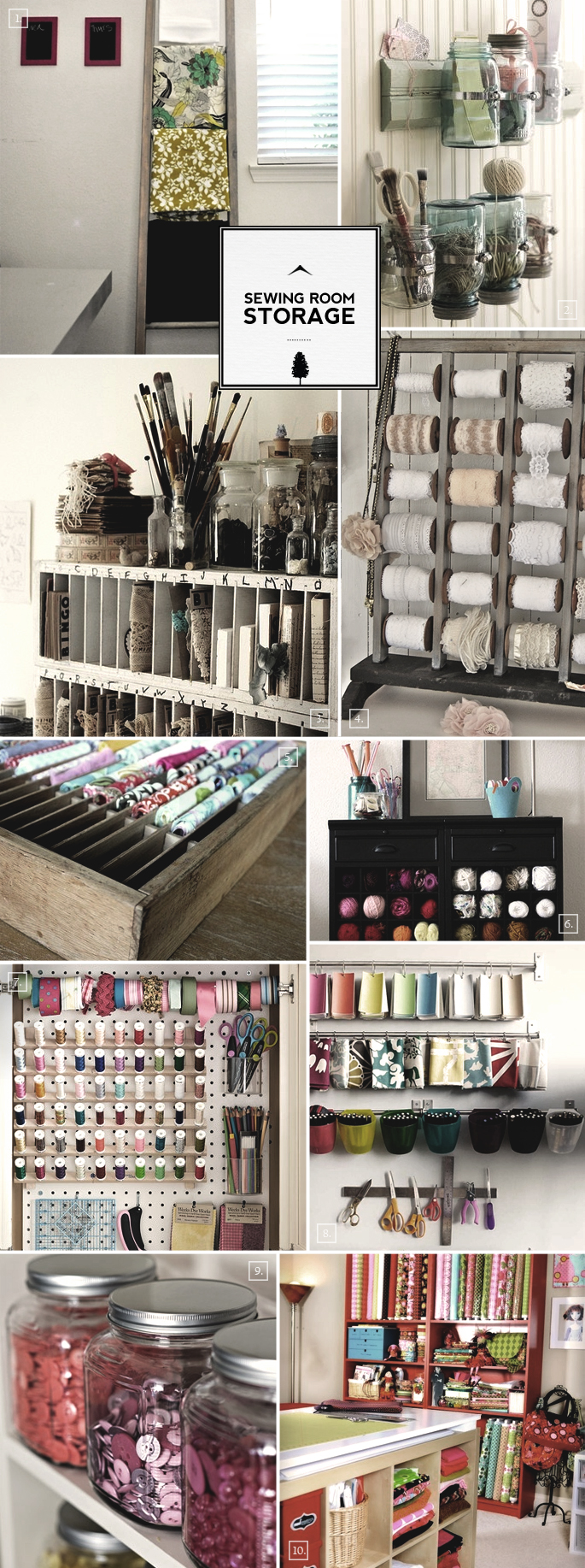 Sewing Room Organization Ideas From Storage To Display