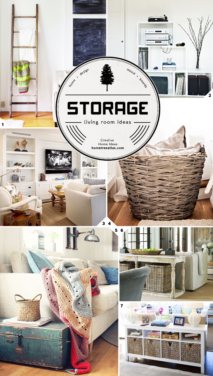 Creative Living Room Storage Ideas | Home Tree Atlas